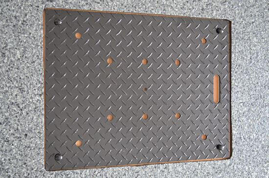 Picture of ALUMINUM GARAGE DRAIN COVER - DIAMOND PLATE GAP-202